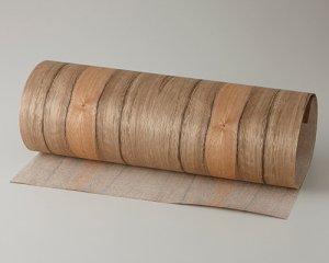 ツキ板 シート【ニューギニアWN柾目】0.4ミリ厚*450*900:Sサイズ[Quick](和紙貼り/粘着付き)