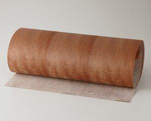 ツキ板 シート【モアビ柾目】0.4ミリ厚*450*900:Sサイズ[Quick](和紙貼り/粘着付き)