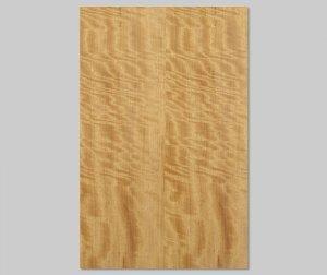 ツキ板 シート【モビンギ柾目】0.4ミリ厚*A4:SSサイズ[Quick](和紙貼り/粘着付き)
