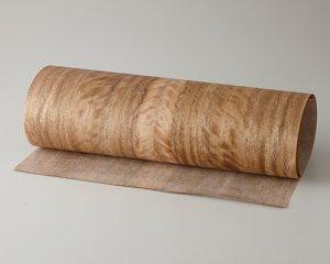 ツキ板 シート【フォックステール柾目】0.4ミリ厚*450*900:Sサイズ[Quick](和紙貼り/粘着付き)
