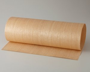 天然木のツキ板シート【マンガシロ柾目】(Sサイズ)0.3ミリ厚Normalタイプ(和紙貼り/糊なし)