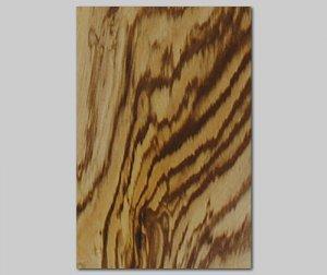 【ゼブラ杢目】A4サイズ(シール付き)天然木のツキ板シート「クイックタイプ」