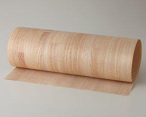 ツキ板 シート【タモブロック】0.4ミリ厚*450*900:Sサイズ[Quickタイプ](和紙貼り/粘着付き)