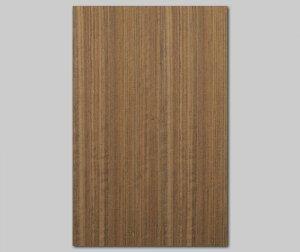 ツキ板 シート【Oコール柾目】0.4ミリ厚*A4:SSサイズ[Quickタイプ](和紙貼り/粘着付き)