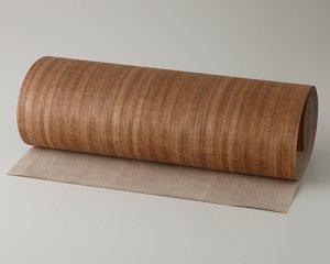 ツキ板 シート【Oコール柾目】0.4ミリ厚*450*900:Sサイズ[Quickタイプ](和紙貼り/粘着付き)