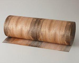 ツキ板 シート【ダオ柾目】0.4ミリ厚*450*900:Sサイズ[Quick](和紙貼り/粘着付き)