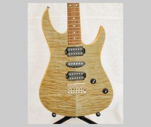 ギター用【カーリーメープル杢目】500*900(和紙貼り/糊なし)天然木のツキ板シート「ノーマルタイプ」