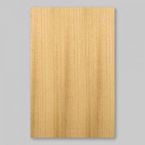 【サンプル】ケヤキ柾目A4サイズ厚み0.5ミリのEasyタイプの天然木ツキ板シート