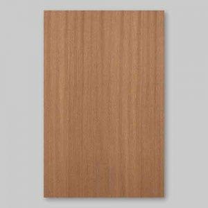【サンプル】サペリ柾目A4サイズ厚み0.5ミリのEasyタイプの天然木ツキ板シート