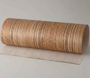 【サンプル】サテンコール柾目A4サイズ厚み0.5ミリのEasyタイプの天然木ツキ板シート
