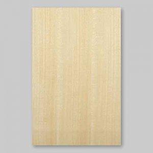 【サンプル】シナ柾目A4サイズ厚み0.5ミリのEasyタイプの天然木ツキ板シート