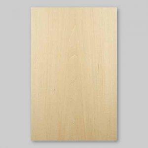 【サンプル】シナ板目A4サイズ厚み0.5ミリのEasyタイプの天然木ツキ板シート