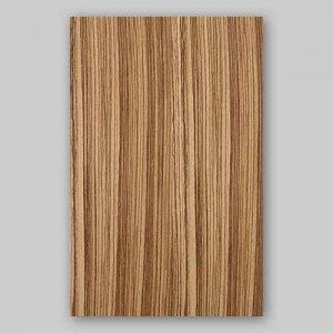 【サンプル】ゼブラ柾目A4サイズ厚み0.5ミリのEasyタイプの天然木ツキ板シート
