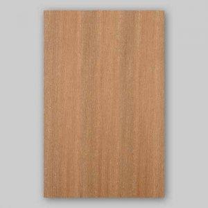 【サンプル】チーク柾目A4サイズ厚み0.5ミリのEasyタイプの天然木ツキ板シート