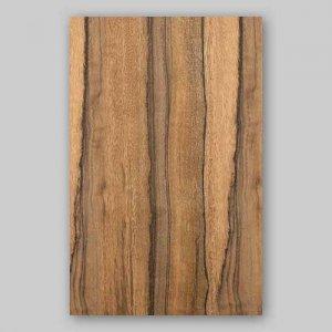 【サンプル】ニューギニアウォールナット柾目A4サイズ厚み0.5ミリのEasyタイプの天然木ツキ板シート