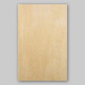 【サンプル】ハードメープル板目A4サイズ厚み0.5ミリのEasyタイプの天然木ツキ板シート