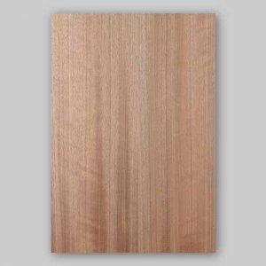 【サンプル】パシフィックウォールナット柾目A4サイズ厚み0.5ミリのEasyタイプの天然木ツキ板シート