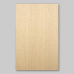 【サンプル】ヒノキ柾目A4サイズ厚み0.5ミリのEasyタイプの天然木ツキ板シート