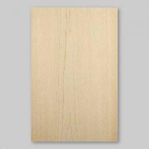 【サンプル】ヒノキ板目A4サイズ厚み0.5ミリのEasyタイプの天然木ツキ板シート