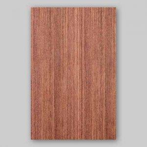 【サンプル】ブビンガ柾目A4サイズ厚み0.5ミリのEasyタイプの天然木ツキ板シート