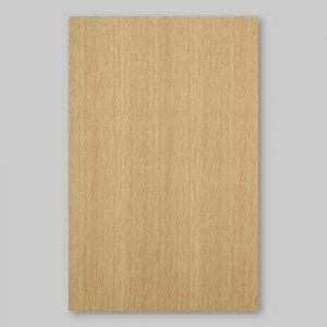 【サンプル】オーク柾目A4サイズ厚み0.5ミリのEasyタイプの天然木ツキ板シート