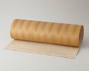 ツキ板 シート【アサメラ柾目】0.4ミリ厚*450*1800:Mサイズ[Quickタイプ](和紙貼り/粘着付き)