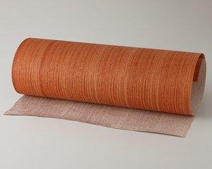 ツキ板 シート【カリン柾目】0.4ミリ厚*450*1800:Mサイズ[Quickタイプ](和紙貼り/粘着付き)