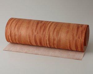ツキ板 シート【カリン板目】0.4ミリ厚*450*1800:Mサイズ[Quickタイプ](和紙貼り/粘着付き)