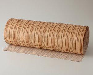 ツキ板 シート【ゼブラ柾目】0.4ミリ厚*450*1800:Mサイズ[Quickタイプ](和紙貼り/粘着付き)