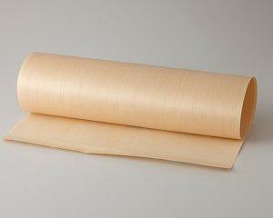 ツキ板 シート【ヒノキ柾目】0.4ミリ厚*450*1800:Mサイズ[Quickタイプ](和紙貼り/粘着付き)