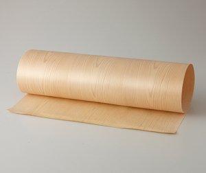 ツキ板 シート【ヒノキ板目】0.4ミリ厚*450*1800:Mサイズ[Quick](和紙貼り/粘着付き)