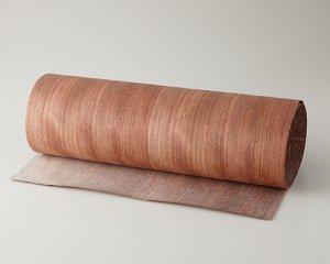 ツキ板 シート【ブビンガ柾目】0.4ミリ厚*450*1800:Mサイズ[Quick](和紙貼り/粘着付き)