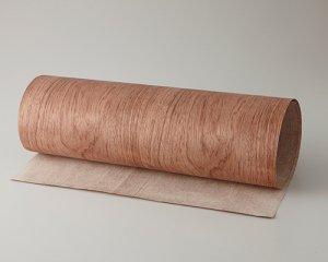 ツキ板 シート【ブビンガ板目】0.4ミリ厚*450*1800:Mサイズ[Quick](和紙貼り/粘着付き)