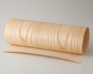 ツキ板 シート【Wアッシュ板目】0.4ミリ厚*450*1800:Mサイズ[Quick](和紙貼り/粘着付き)