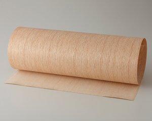 ツキ板 シート【レッドオーク柾目】0.4ミリ厚*450*1800:Mサイズ[Quick](和紙貼り/粘着付き)