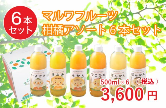 マルワフルーツ柑橘アソート6本セット