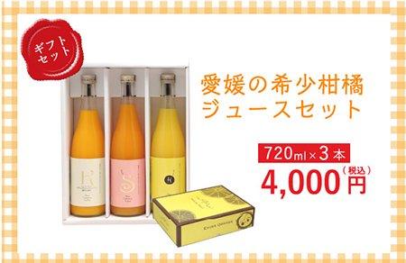 希少柑橘のジュースセット 720ml×3本