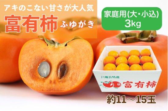 富有柿【家庭用(大・小込み)】3kg 約11~15玉
