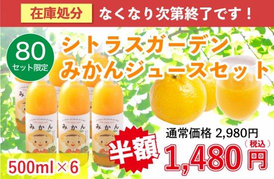 【80ケース限定】シトラスガーデン みかんジュース 500ml×6