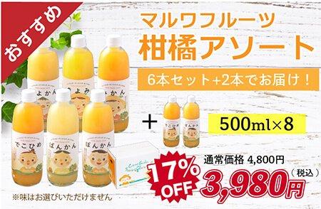 【今だけ】マルワフルーツ柑橘アソート8本セット