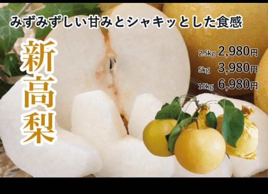 新高梨【家庭用】 2.5 � 約4〜8玉