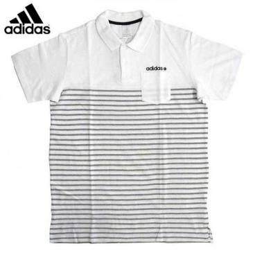 Men's/adidas/ポケット付きボーダーポロ【送料無料】