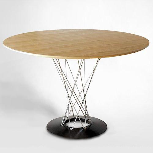 イサム・ノグチ/サイクロンテーブルCycloneTableФ110【木目天板×クローム】メイン画像-デザイナーズ家具通販N PLUS