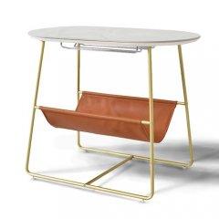 GARTガルト/マルチデザインサイドテーブルRaftラフト【大理石調セラミック天板2カラー・H53cm】