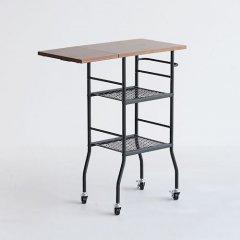デザイナーズスタイル/ウッド×FRPラウンドカフェテーブルW2018【H73.5cm・ホワイト】