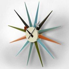 ジョージ・ネルソン/SunburstClockサンバーストクロック【マルチカラー】-デザイナーズ家具通販N PLUS