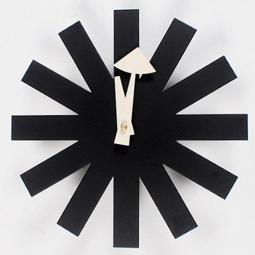 ジョージ・ネルソン/AsteriskClock*アスタリスククロック【ブラック】メイン画像-デザイナーズ家具通販N PLUS