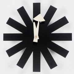 ジョージ・ネルソン/AsteriskClock*アスタリスククロック【ブラック】-デザイナーズ家具通販N PLUS