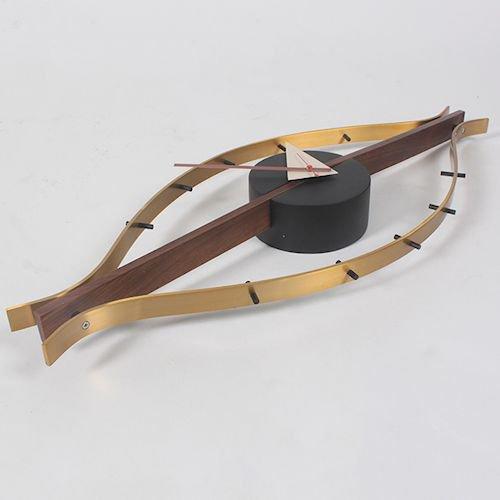 ジョージ・ネルソン/EyeClockアイクロックウォールナット無垢材詳細画像4