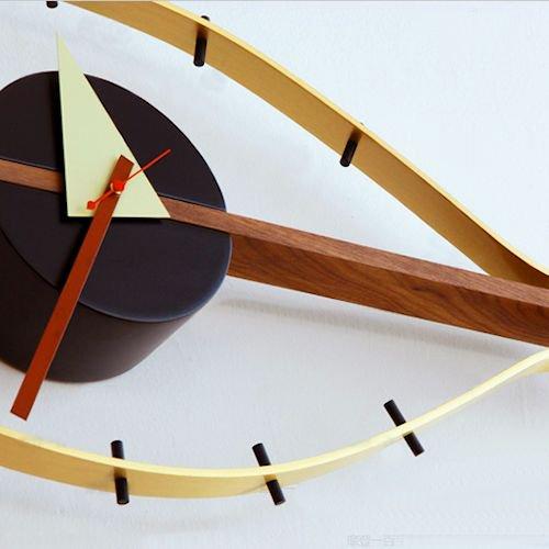 ジョージ・ネルソン/EyeClockアイクロックウォールナット無垢材詳細画像5